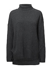 Yak turtleneck - DARK GREY MELANGE