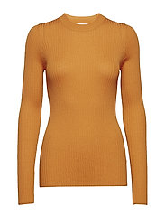 Ribbed crewneck - ORANGE