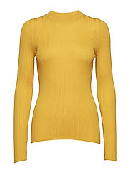 Ribbed crewneck - YELLOW