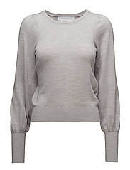 Cropped with puff - LIGHT GREY MELANGE