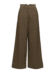 Artist wife pants - LIGHT TOBACCO TWEED