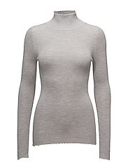 Frayed turtleneck - LIGHT GREY MELANGE