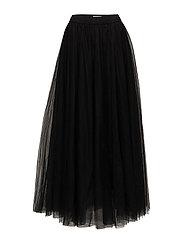 Long classic tulle skirt - BLACK