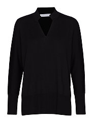 Tunisian sweater - BLACK