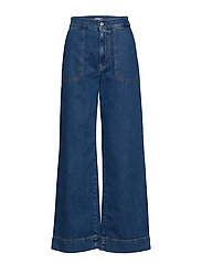 Denim sailor pants - VINTAGE BLUE WASH