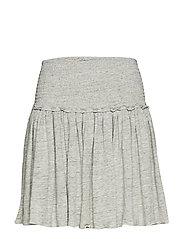 Linen smock skirt - GREY MELANGE