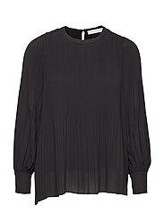 Miami blouse w/high cuffs - BLACK