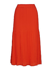 Miami midi skirt - HIBISCUS RED
