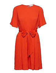 Miami dress w/short sleeves - HIBISCUS RED