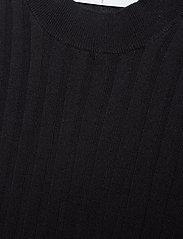 Cathrine Hammel - Ribbed crewneck w/ elbow sleeve - knitted tops & t-shirts - dark ink blue - 2