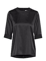 Silk tee-shirt - BLACK