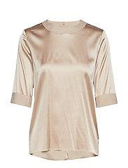 Cathrine Hammel Silk tee-shirt - OATMEAL
