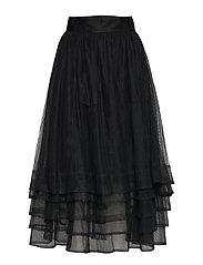 Multiple layers skirt - BLACK