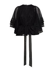 Cathrine Hammel Multiple layers top w/sleeves - BLACK