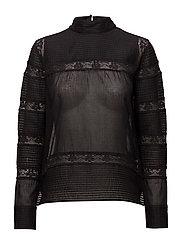 Lace blouse - BLACK