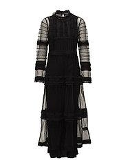 Victoria long lace dress - BLACK