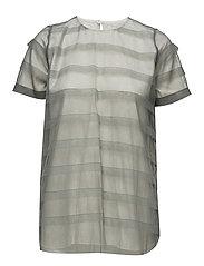 Striped tulle tee-shirt - AQUA