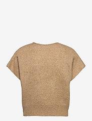 Cathrine Hammel - Soft wide sleeveless top - strikkede toppe - camel - 1