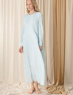Miami maxi dress w/high cuffs - maxi sukienki - sky blue