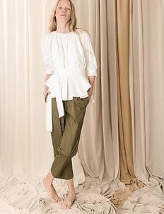 Boatneck blouse - bluzki dlugim rekawem - white