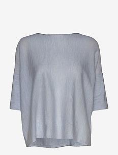 Wide tee-shirt - t-shirts - light blue melange