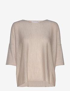Wide tee-shirt - t-shirts - nature melange