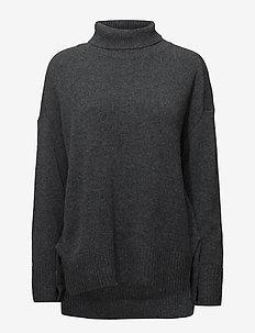 Yak turtleneck - golfy - dark grey melange
