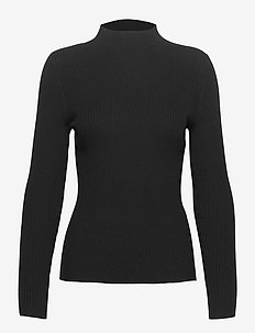 Ribbed turtleneck - gensere - black