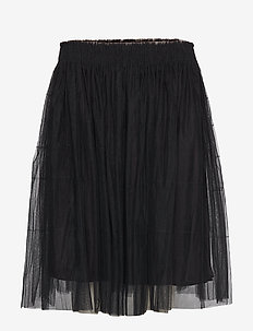 Midi tulle skirt - BLACK