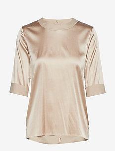 Silk tee-shirt - OATMEAL