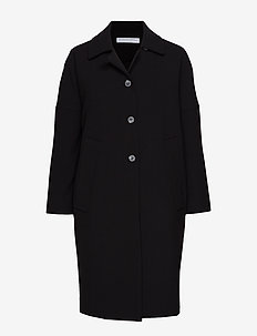 Cocoon overcoat - BLACK
