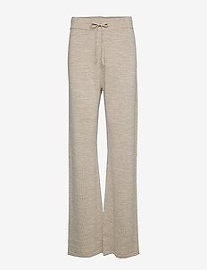 Knitted pants - OATMEAL MELANGE