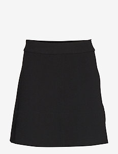 Short flare skirt - BLACK