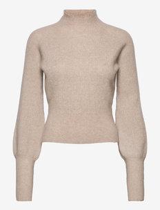 Soft petit ribbed turtleneck - turtlenecks - warm grey