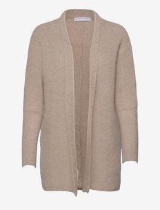 Soft demi shawl cardigan - cardigans - warm grey