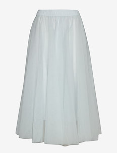 Midi tulle skirt - FEATHER BLUE