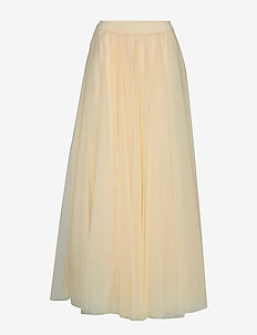 Long tulle skirt - OFF WHITE