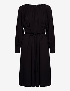 Plain miami dress - midi kjoler - black