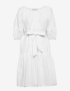 Midi short sleeve dress - WHITE