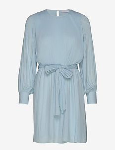 Miami dress w/high cuffs - LIGHT BLUE