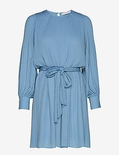 Miami dress w/high cuffs - krótkie sukienki - sky blue