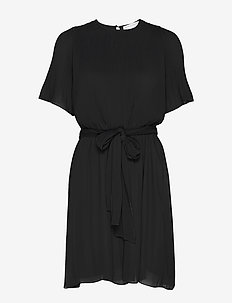 Miami dress w/short sleeves - BLACK
