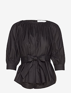 Boatneck blouse - BLACK