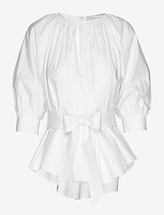 Boatneck blouse - WHITE