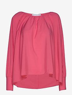 Cannes shirt - langærmede bluser - poppy pink