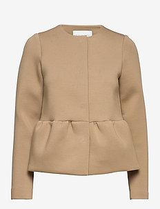 Peplum jacket - CAMEL
