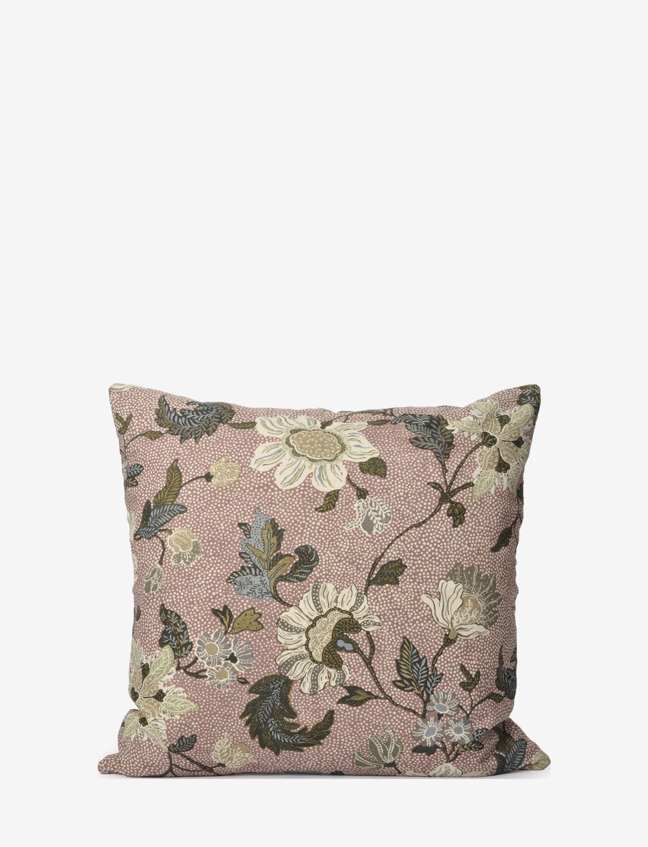 Ceannis - C/c 50x50 Dusty Pink Flower Linen - housses de coussins - pink - 0