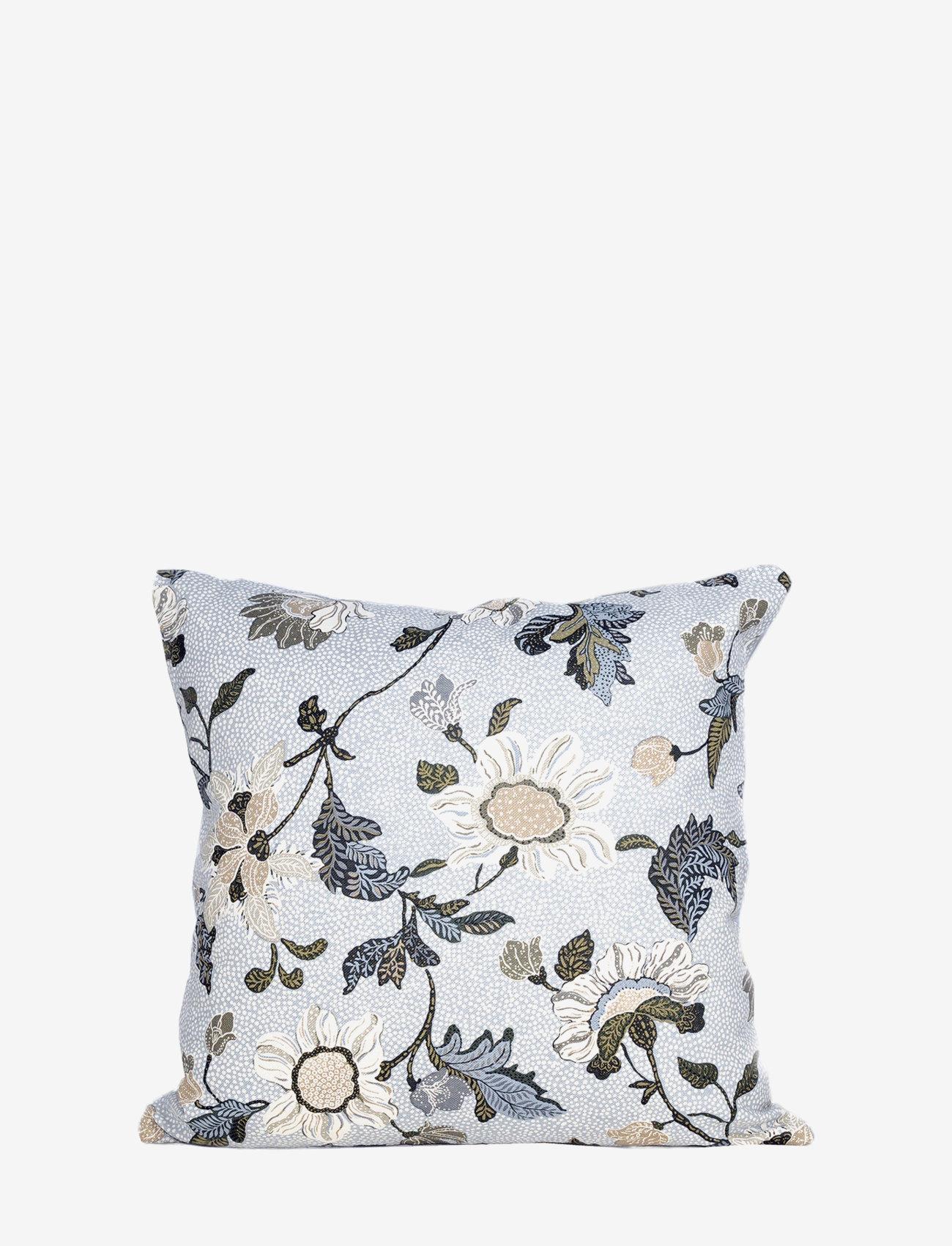 Ceannis - C/c 50x50 White Flower Linen - housses de coussins - white - 0