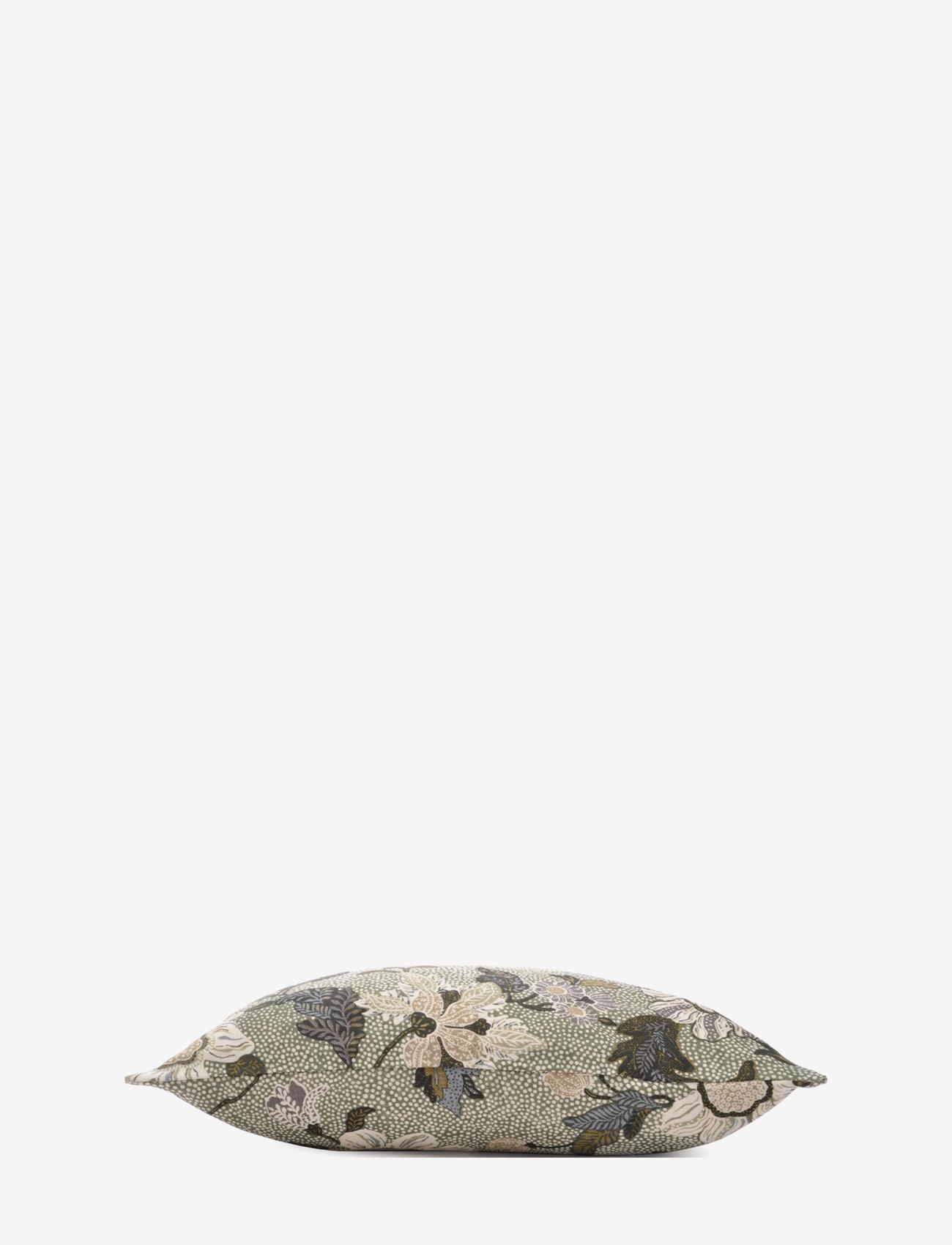 Ceannis - C/c 50x50 Soft Green Flower Linen - housses de coussins - green - 1