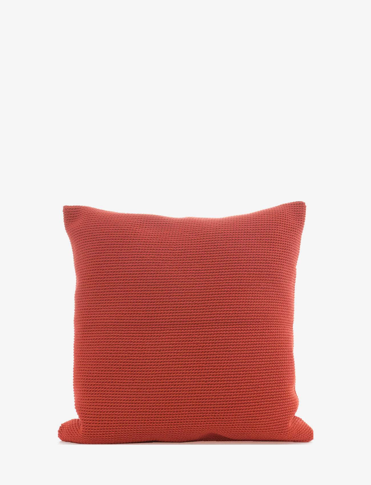 Ceannis - C/c 50x50 Terracotta Crochet - housses de coussins - terracotta - 0